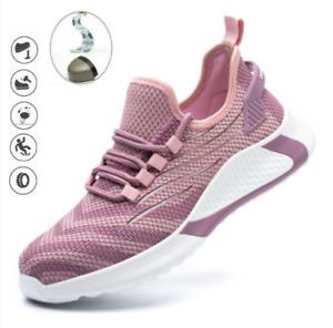 Donna Scarpe antinfortunistiche scarpe da lavoro puntale in acciaio Traspiranti