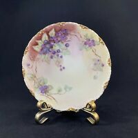 """THEORDORE HAVILAND LIMOGES HAND PAINTED COLLECTOR'S PLATE BLUEBERRIES 6.25"""""""