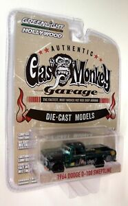 Greenlight 1/64 Scale 1964 Dodge D-100 Sweptline Gas Monkey Diecast Chase Car