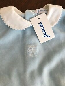 NEW with tag Jacadi Baby Boy Sky Blue One Piece / Jumpsuit / Footie Size 6M