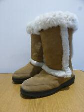 Ugg Sundance II tall sheepskin boots W 10 UK 8 sand suede classic