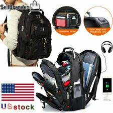 Swiss Multifunctional 15.6''Laptop Backpack Travel Camping USB Charge School bag