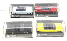 4 pc New Ray 1:43 Die Cast Cars 1955+1959 Cadillac+Chrysler 300+Oldsmobile 442