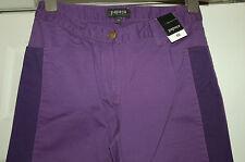 NEW Sz 10 Purple Denim Jean Trousers with darker illusion strip down leg