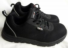 Larnmern Black Steal Toe Sneakers Safety Work Shoes Men's Size 7.5