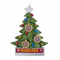 Kurt Adler US Marines Military Christmas Tree Collectible Holiday Decor Ornament