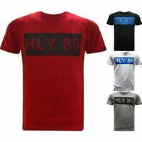 New HLY Mens Designer T-Shirt Short Sleeve Printed Casual Summer Fashion Tee Top
