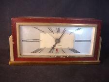 Old Vtg Antique Seth Thomas Wood Brass Desk Mantle Clock Baxter 2-E USA