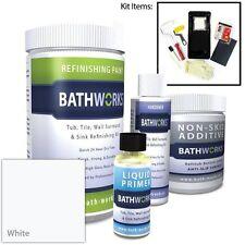 White Bathroom Refinishing Kit Tile Bathtub Protection Resin Chip Crack Peel