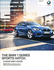 2014 BMW 118i 124i 125i M135i 116d 70-page 1-SeriesUK Car Sales Brochure Catalog