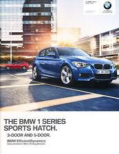 2014 BMW 118i 124i 125i M135i 116d 70-page 1-SeriesUK Car Sales Brochure Catalog