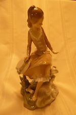 """Lladro Figurine #4918 """"At The Sea-Side"""", Retired 1985, Excellent Condition"""