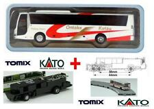 KATO by TOMIX AUTOBUS-4 + CHASSIS MOTORE ELETTRICO-MAGNETICO per SET BUS SCALA-N