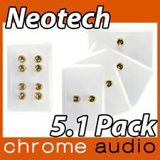 Neotech 4 Speaker Wall Plate 5.1 VALUE PACK