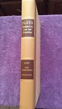Dialogues on Love and Friendship by Plato--The Heritage Press~1968 Nice