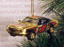 TRACK GEAR '68 FORD MUSTANG FASTBACK 1968 GOLD CHRISTMAS ORNAMENT XMAS