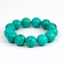 Großes Türkise Armband Kugeln Perlenband Damen Herren Armschmuck Nepal 8d