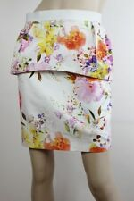 Cotton Blend Straight, Pencil Floral Skirts for Women