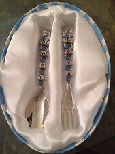 Mud Pie Baby Prince Keepsake Spoon & Fork gift box