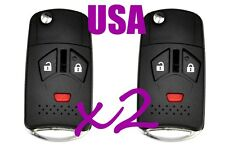 x2 Mitsubishi 3 Button Flip Key Replacement Housing Shell Case Blank Uncut USA