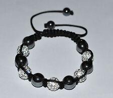 10mm Rhinestone Crystal Pave Ball Shamballa Macrame Bracelet - BB8