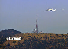 Historical Final Shuttle ENDEAVOUR last fly over HOLLYWOOD SIGN 5x7 PHOTO