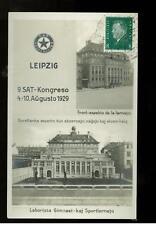 1929 Leipzig Germany Esperanto Congress Postcard Cover