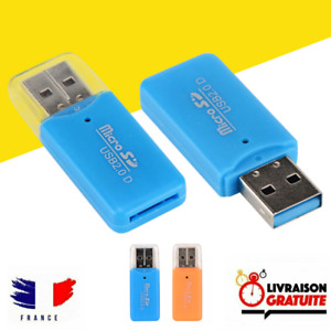 Lecteur Carte MicroSD USB adaptateur USB pour carte Micro SD SDHC SDXC Reader