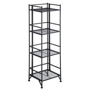 Convenience Concepts Xtra Storage 4 Tier Folding Metal Shelf