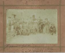 GARGAGNANO LAGO DI GARDA 1912 FOTO ORIGINALE 11,3X16,7 BATTUTA DI CACCIA