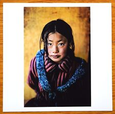 "SIGNED STEVE MCCURRY PORTRAIT OF TIBETAN GIRL LTD 6"" x 6"" MAGNUM ARCHIVAL PRINT"