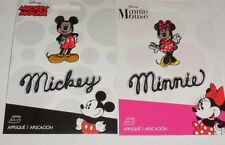 Disney MICKEY & MINNIE MOUSE & MICKEY/MINNIE Name Embroidered iron on Patch 4 pc