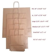 More details for 100 brown twist handle paper party and gift carrier bags with rope handles