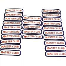 """Masters Club Martial Arts Karate Embroidered Patch 4"""" x 1""""  Lot of 25  AL"""