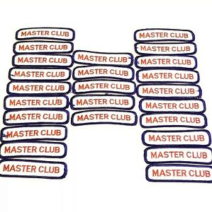 """Masters Club Embroidered Patch Martial Arts Karate 4"""" x 1"""" Lot of 25"""