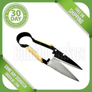 ONE HAND TRIMMING SHEARS TOPIARY CUTTER GARDEN GRASS HEDGE PRUNING SCISSORS UK