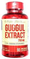 750mg Guggul Extract 2.5% Guggulsterones 90 Capsule Antioxidant Cholesterol Pill