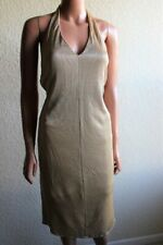 Authentic Gianfranco Ferre Jeans Gold Halter Cocktail Dress size 26 40 ITALY