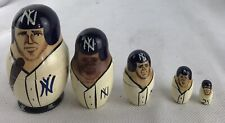 Vintage Nesting Doll Players Ny Yankees 5 Pieces
