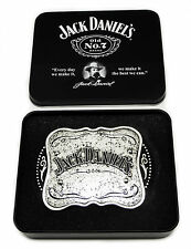 Jack Daniel`s Belt Buckle Silver + Collectors Tin Authentic Officially Licensed