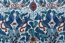 """CLARKE & CLARKE BY EMMA J SHIPLEY CURTAIN FABRIC DESIGN """"Amazon"""" 0.43 METRE BLUE"""
