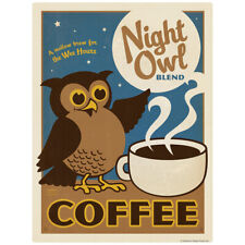 Night Owl Coffee Decal 26 x 34 Peel and Stick Kitchen Decor