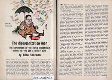 1965 TV GUIDE ARTICLE~ALLAN SHERMAN~THE DISORGANIZATION MAN~4 PAGES