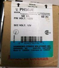 NEW PH50JE Hammond Transformer 50VA 120V Pri to 12V Sec