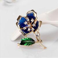 Enamel Brooch Pretty Women Flower Lapel Pin Fashion Jewelry Fashion Accessories