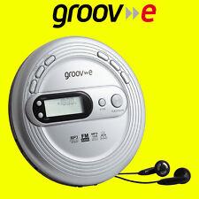 Groov-e GVPS210 Silver Retro Series Personal CD MP3 Player Walkman with FM Radio