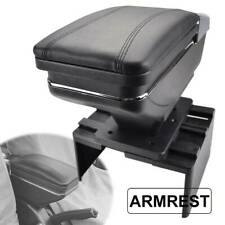 Auto Center Console Armrest Leather Arm Rest Storage W/Latch Cover Mat Universal