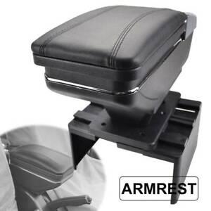 Car Universal Storage Arm rest Cushion Armrest Centre Console Box Leather Cover