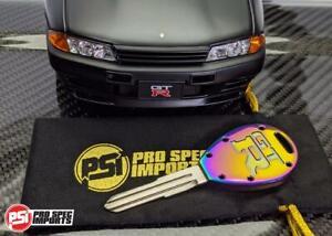 Nissan Skyline GTR R32, R33 Billet Titanium Key Blank - Neo Chrome Finish