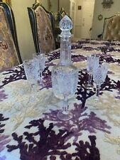 Genuine crystal whiskey decanter &5shot Glasses set
